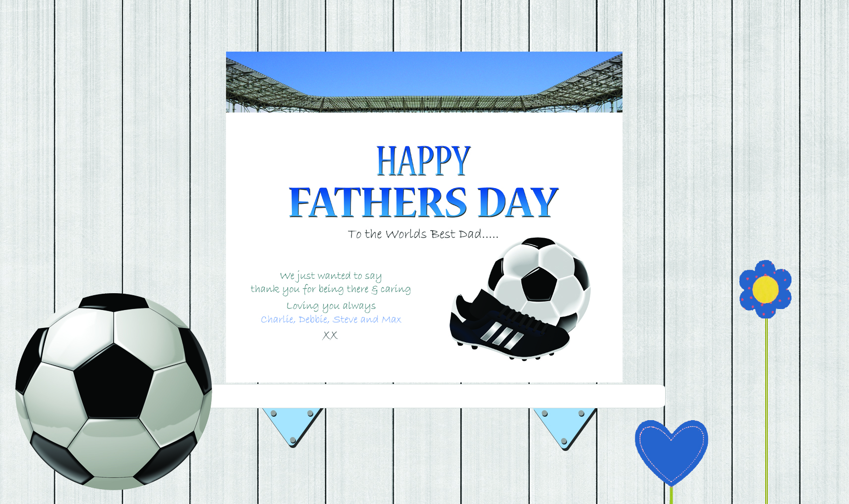 Background Boy PSD Fathers Day Football