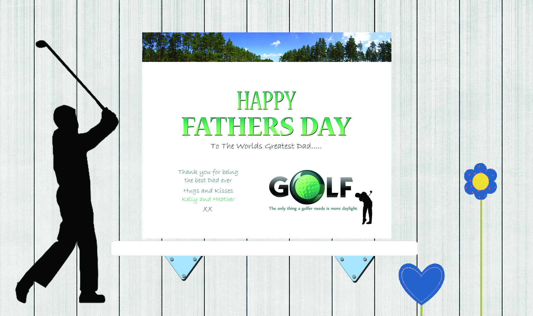 Background Fathers Day Golf
