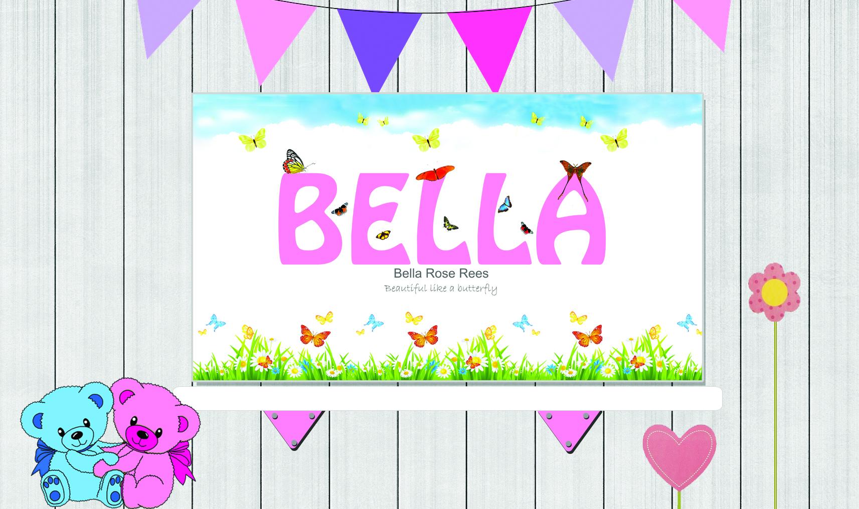 Background Girl PSD Butterflies