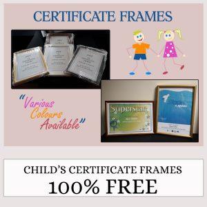 Children's Certificate Frames Free
